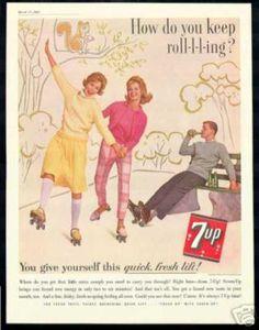 7Up Roller Skating AD 7-UP Pop (1962)