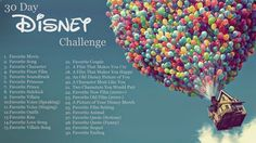Dabble...: 30 Day Disney Challenge: Introduction