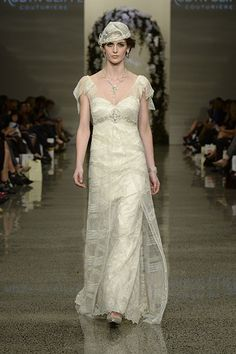 Robyn Cliffe Wedding dress, Off-white lace gown. White Lace Gown, Lace Dress, Off White, Gowns, Wedding Dresses, Silver, Collection, Fashion, Dresses