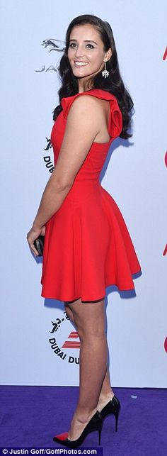 Ravishing in red: British hopeful Laura Robson was a scarlet siren in a little red dress, ...