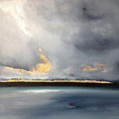 Sky Painting, Seascape Paintings, Painters Studio, Devon Coast, Gold Leaf Art, Painted Leaves, Sea Art, Cool Artwork, Great Artists