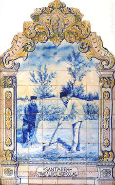 Visit Portugal, Lisbon Portugal, Victorian Curtains, Portuguese Tiles, Blue Tiles, Mosaic Tiles, Art Boards, Vintage World Maps, Miniatures