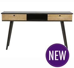 Drake Console - Rustic Teak and Charcoal - made o0f Mahogany W1500 x D400 x H800mm (W x D x H mm)