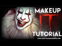 IT Pennywise 2017 Makeup Tutorial Best Halloween Costumes Ever, Halloween Wishes, Creepy Halloween, Halloween Projects, Halloween Make Up, Halloween 2019, It Pennywise, Clown Makeup, Scary Makeup