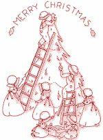 Decorating a Christmas Tree