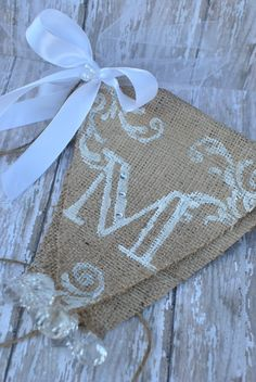 Mr and Mrs Custom wedding burlap banner