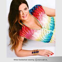 Khloe Kardashian wearing Isharya Goddess Honeycomb Cuff