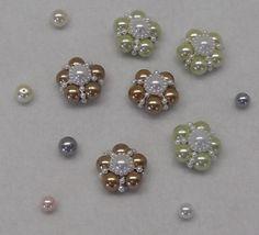 Handmade Shabby Chic Pearl Flower Embellishments by craftytexaswoman, $3.25 USD