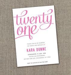 21st Birthday Invitation Details