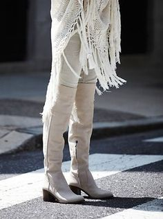 Sam Edelman for Free People Tall boots in SZ 8 in Bone