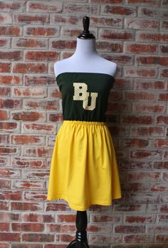 Baylor Bears Game Day Strapless Dress