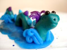 polymer clay | Polymer Clay Dragon Loch Ness Monster by MagicalMeGifties on Etsy