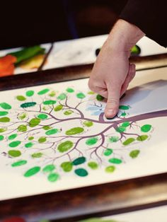 Guest book idea with our tree theme