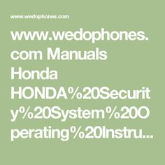 honda crv 2000 workshop manual