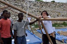 Shigeru Ban, Paper Emergency Shelter, Haiti, 2010