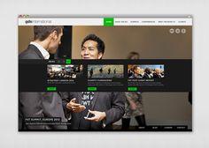 Corporate Website by James West, via Behance