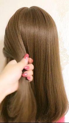 Hairdo For Long Hair, Easy Hairstyles For Long Hair, Cute Hairstyles, Easy Hair Braids, Easy Hairstyles Tutorials, Easy Wedding Hairstyles, Long Hair Dos, Easy And Beautiful Hairstyles, Easy Updos For Medium Hair