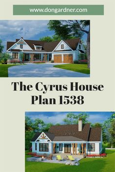 The Cyrus house plan 1538 is now in progress! 2034 sq ft | 3 Beds | 2 Baths This charming modern farmhouse design is instantly appealing with a courtyard entry garage, decorative gable brackets, and metal roof accents. An open floor plan awaits inside with an array of skylights in the great room, a sun tunnel above the island kitchen, and a dining room that accesses the rear porch. #wedesigndreams #modernfarmhouse Modern Farmhouse Design, Modern Rustic, Gable Brackets, Courtyard Entry, Skylights, Island Kitchen, Conceptual Design, Metal Roof, Open Floor