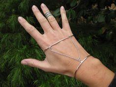 Sterling Silver Hand Cuff / Palm Cuff. on Etsy, £68.26