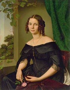 Matthias Radermacher, Portrait of Mathilde Gallenkamp, 1844