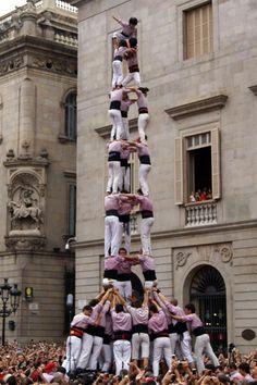 """La Mercè"" Barcelona Festival - Colla Castellera Minyons de Terrassa - 23/09/2012"