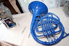 Blue frenchhorn guest book! How I met your mother fans haha!