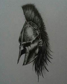Un tatuaje diseñado para un conocido. Casco espartano.
