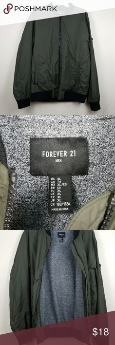 Forever 21 bomber jacket Great light spring bomber jacket only flaws is some stiches came loose under right pocket not noticeable! Good condition!  Pet free!   Smoke free!  FINALSALE! Forever 21 Jackets & Coats