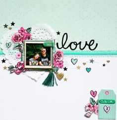 Paper Issues March Pinspire Me layout: Love by Amanda Baldwin featuring Crate Paper Cute Girl