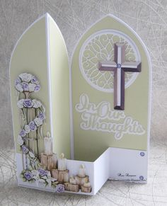 """Hello everyone, Sharing my DT samples for Carnation Crafts """"Kind Thoughts"""" collection.Launching on Create and Craft TV Saturday Fancy Fold Cards, Folded Cards, Handmade Birthday Cards, Greeting Cards Handmade, Card Making Tutorials, Making Ideas, Z Cards, Flip Cards, Baby Cards"""