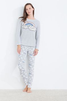 Officiel Primark Pusheen Super Lazy Chaud Pyjamas Haut Bas PJ Set Pyjama Chat