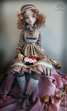 Катринка - коричневый,подарок,девочка,коллекционная кукла,ручная работа
