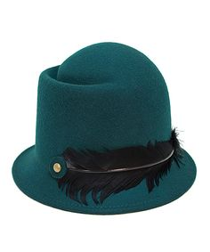Look at this Magid Hunter Feather Wool-Blend Cloche on #zulily today!