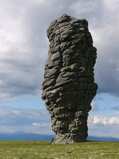 The Manpupuner rock formations or the Seven Strong Men Rock Formations or Poles of the Komi Republic are a set of 7 gigantic abnormally shaped stone pillars located north of the Ural mountains in the Troitsko-Pechorsky District of the Komi Republic.