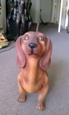 Pin Dachshund Dog Statue Life Size Brown