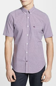 Burberry Brit 'Fred' Short Sleeve Check Sport Shirt