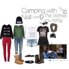 """Camping with Niall part 1: clothes you bring"" by fangirl-fashion14 on Polyvore Follow me on Polyvore!!!"