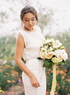 Swooning over this Jenny Packham wedding dress: http://www.stylemepretty.com/2013/12/09/vineyard-bridal-inspiration-shoot-from-ozzy-garcia/ | Photography: Ozzy Garcia - http://ozzygarciablog.com/