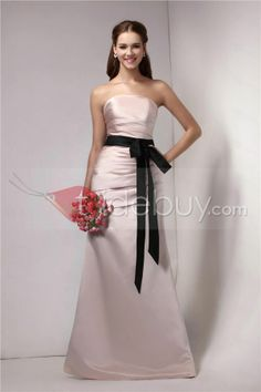Ruched Sashes/Ribbons Trumpet/Mermaid Strapless Floor-Length Sandra's Bridesmaid Dress