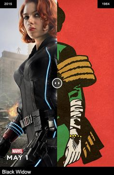 Avengers: Age of Ultron - Black Widow (first appeared in Tales of Suspense #52, 1964).