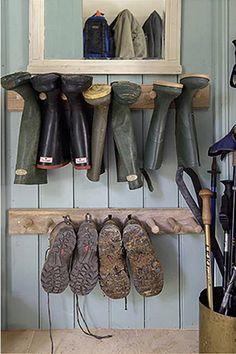 creative and unique shoe rack ideas for small spaces mudroom entryway shoe rack and diy shoe rack Boot Storage, Garage Storage, Shoe Storage Mudroom Ideas, Shoe Rack Mudroom, Boot Organization, Storage For Boots, Shoe Storage Ideas For Garage, Diy Storage, Shoe Storage Porch