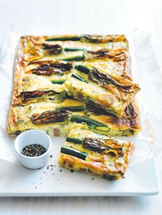 A perfect Spring breakfast must include some zucchini flower slices. Yum!