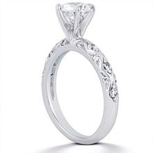 Engagement ring with Side Stones | Diamond Ideals