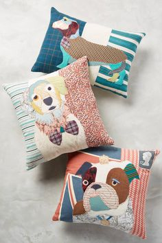 Patchwork Pup Pillow - anthropologie.com