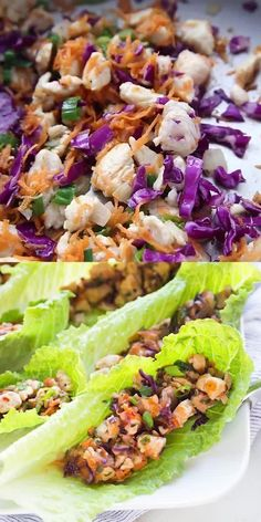 Healthy Diet Recipes, Healthy Appetizers, Healthy Eating, Quick Healthy Food, Cooking Recipes, Thai Appetizer, Thai Chicken Lettuce Wraps, Lettuce Wrap Recipes, Healthy Chicken Wraps