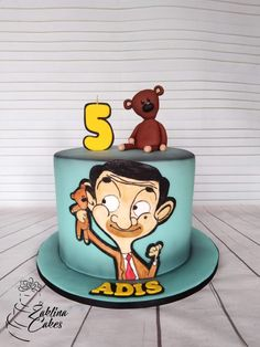 Mr Bean by Zaklina Mr Bean Birthday, Camo Birthday Party, Birthday Cakes For Men, Cakes For Boys, Mr Bean Cake, Bean Cakes, Bing Cake, Mr Bean Cartoon, Mr. Bean