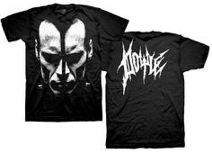 Doyle Icon Devilock Face Logo - 2-sided Black T-Shirt - BRAND NEW - Misfits #doyle #themisfits #devilock