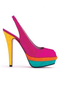 Spring Heels: Ursula Mascaro color pop platforms