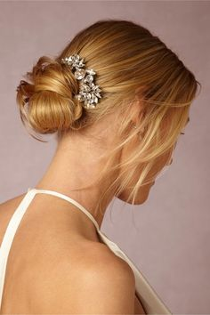 This jeweled hair accessory will take your low knot to the next level