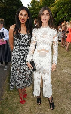 Elsa Sednaoui by Erdem and Saloni Lodha at the Serpentine Galleries' 2015 Summer Party